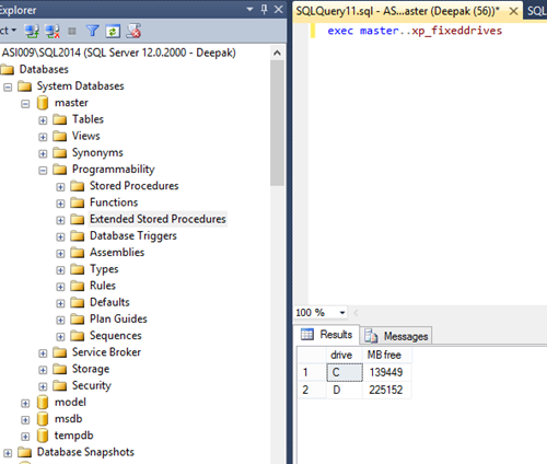 Extended Stored Procedures in SQL Server 2014 | SQL Programmers